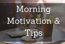 Morning Tips & Motivation / How do you wake up early every day? How do you find the motivation to get up early? I love my mornings! It wasn't easy to become a morning person, but this board shares a few posts on how I made early waking a habit. It also compiles motivation and tips to make the most of your morning.