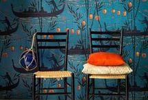 o r a n g e _ & _ b l u e / orange and blue interiors