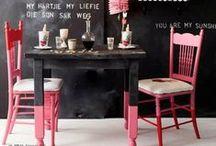b l a c k _ & _ p i n k / black and pink interiors