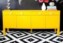 b l a c k _ & _ y e l l o w / black and yellow interior ideas