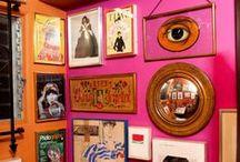 f u c h s i a _ & _ o r a n g e / orange and fuchsia / pink / magenta interiors