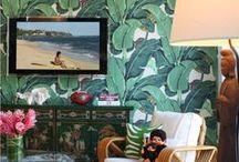 -t r o p i c a l _ w a l l p a p e r- / wallpapers with jungle/palm/tropical leaves motives