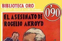 Policíaco - AC - BO / #Portadas de novelas #Policíacas - #Agatha #Christie. Biblioteca Oro de #Editorial #Molino