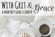 Grit & Grace | Setting Goals & Managing Your Time & Resources / Grit is the dedication & perseverance as you strive to hit your goals. Grace is giving yourself the freedom to delay or relax your goals based on what your life's priorities are. This board is for Goal Setting Tips, Goal Setting Ideas & Motivation, and Tips for Managing your Time & Resources