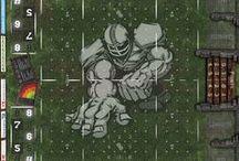 Fantasy Football Spielfelder / Spielfelder für Fantasy Football Spielfelder. Blood Bowl kompatibel. Alle mit den Maßen 67x78 cm (29mm Quadrate) und 79x92 cm (34mm Quadrate). Mehr Infos unter: www.kohli24.de