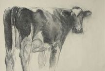 Schetsen / Sketches, Klimas creates many charcoal sketches in order to quickly record compositions on paper.