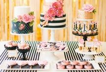 The Best Dessert Tables / All the best dessert table inspiration for any party theme. All the yummy party sweets are included - birthday cakes, donuts, cookies, ice cream and more. Dessert Table Displays / Dessert Table Ideas / Birthday Party Desserts / Baby Shower Desserts