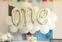 Balloon party / All the bright colours and balloons for a first birthday party
