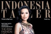 Indonesia Tatler's Cover / Our covers' figure are those who have made achievements in the world of politics, business, economy, art and entertainment.