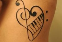 Music tattoo designs / http://www.tattoosideas.co.uk/music-pictures.html