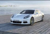 Porsche Panamera S E Hybrid / Photos of the 2014 Porsche Panamera S E Hybrid, the first plug-in electric car produced by Porsche.