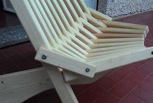 Kentucky chairs -Sedia in legno autocostruita / Sedia in segno pieghevole