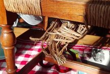 Sedia / Sostituzione seduta da paglia a legno