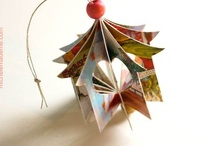 Christmas and winter holiday paper crafts and decor