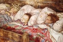"""ART - RACKHAM, ARTHUR / Born in London 09-19-1867 one of 12 children. His health was """"fragile.  He began as a reporter and an illustrator.  His first book illustrations were published in 1893.Died 09-06-1939 in Limpsfield, Surrey, of cancer.   Widely regarded as one of the leading illustrators from the """"Golden Age"""" of British book illustration which encompassed the years from 1900 until the start of the First World War. / by Sharon"""