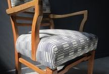 Chairs at Homeward / A collection of unique and one off antique and vintage chairs restored and re upholstered by Nicky for Homeward.   I consider the style and age of each chair and choose the upholstery fabrics carefully to suit. I focus on sourcing fabrics designed and made here in the UK by my favourite textile designers and makers.  If you have a chair that needs improvement and want some advice I'd be pleased to help.