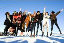 Skiing in style / Glamour on the slopes