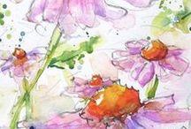Watercolor Painted Garden