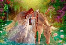 Unicorns and Fairies / Let's invite the higher and magical realms of Unicorns and Fairies into our lives and create heaven on earth