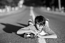 Skateboarding Photos / www.kellidphotos.com Boy with skateboard on a road - Adelaide photography