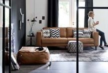 Living room ideas / My favourite living room looks! Featuring lots of monochrome black and white living rooms!