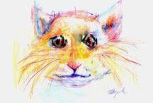 Cat art / my idea of cats