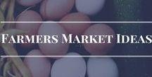 Farmers Market Ideas / Ideen für einen herausragenden Gemüsestand auf dem Wochenmarkt.