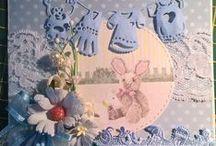 Kortteja - vauva - baby / Tekemiäni vauvakortteja - My handmade baby cards