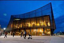Grand Théâtre d' Albi / Albi Major Theatre (France, Dominique Perrault)  / Nouveau Grand Théâtre d'Albi. Ouverture en février 2014. Architecte : Dominique Perrault architecture. Gestion : Scène Nationale d'Albi.