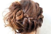 hairstyles with a twist. / Mostly messy and bohemian.