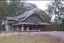 Completed Timber Frames / Timber frame structures that are complete http://www.jeffjohnsontimberframes.com