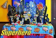 Superhero Party Ideas / superhero birthday party ideas, decorations, invitations, party bags, games www.birthdaypartyideas4u.com