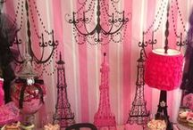 Parisian Party Ideas / Ooh-la-la-Parisian-birthday-party-ideas #birthday #party #parisian #party Paris themed party, chic girl birthday party ideas