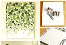 Gallerier / Malede, decopace, klip og klister til væggen