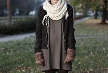 I love the style / Skirts, jeans, scarfs, big sweaters and cardigans. Mostly comfy.