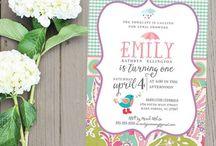 Invitations (Birthday, Save the Date, Wedding, Graduation)