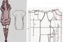 Sewingpattern for dresses / Kjolemønster