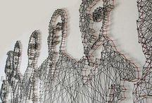 Metal and tread art / Metall og tråd