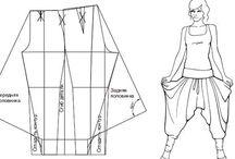 Sewingpatterns for pants / Buksemønster