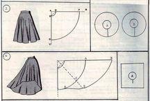 Sewingpatterns for skirts / Skjørtmønster