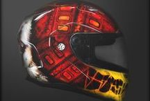 Аэрография на шлемах / Аэрография шлемов, касок, покраска шлемов. Custom paint helmets Airbrushing & Design