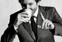 Celebrities drinking coffee