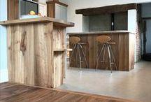 Engineered Elm Flooring / Beautiful engineered elm flooring for farmhouse in Suffolk.