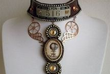 Steampunk Jewelry / Steampunk Jewelry can be easy or hard depending on the look you want. You can see that some of these things you would have to commission someone who works with metal well to make for you or you can make your own pretty easily.  Mine is very Victorian Steampunk looking ((I think) and only cost me 15 dollars to make. It's the 771 (on it) necklace. / by Rona Hater
