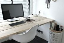 w o r k  s p a c e s / Inspiration, workspaces, offices at home / by Emilie Möri
