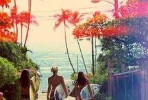 summertime / Eau glacée - menthe fraîche - soirées au bord de la plage - s'endormir sur le sable - rêver - regarder les étoiles - croquer dans un fruit mûr - bronzer sur une grande serviette de plage - monoï - vanille - parfums de soleil - poudre dorée - cheveux ondulés - huile de grenade - pastèque - eau de rose - corsica - fouta marocain - cerises rouges - couleurs éclatantes - danser - chanter - évasion -