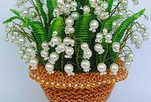 Flowers made of pearls