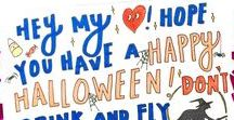 Halloween Snail Mail / Halloween cards, messages and envelope art sent with Punkpost. #SentWithPunkpost