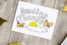 Thank You Cards / Send that thank you card today. #thankful