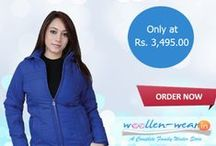 Women Jackets / We, at Woollen-Wear, provide great Collection of full-length jackets, sleeveless jackets, full sleeve jackets, and jackets with a belt, Jackets with fur and more.